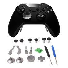 15Pcs/Set Swap Thumb Analog Sticks Grips Stick D-Pad Bumper Trigger Button Gamepad Replacement for Xbox One Elite Wireless Contr