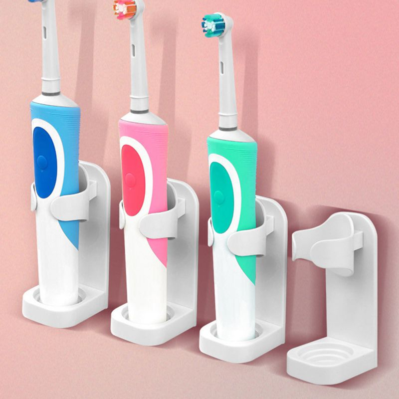 Wall Mount Stander Save space Bathroom Rack Electric Toothbrush Holder #s image