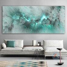 Luz azul nuvem abstrata pintura a óleo livre-pé pintura de parede e sala de estar pintura a óleo moderno cartazes e impressões