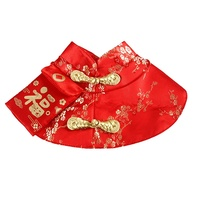 Pet Cat Year Cloak Clothes Party Costume Chinese Style Tang Dynasty Dress Festival Cloak with Red Envelope for Kitten Yorkie