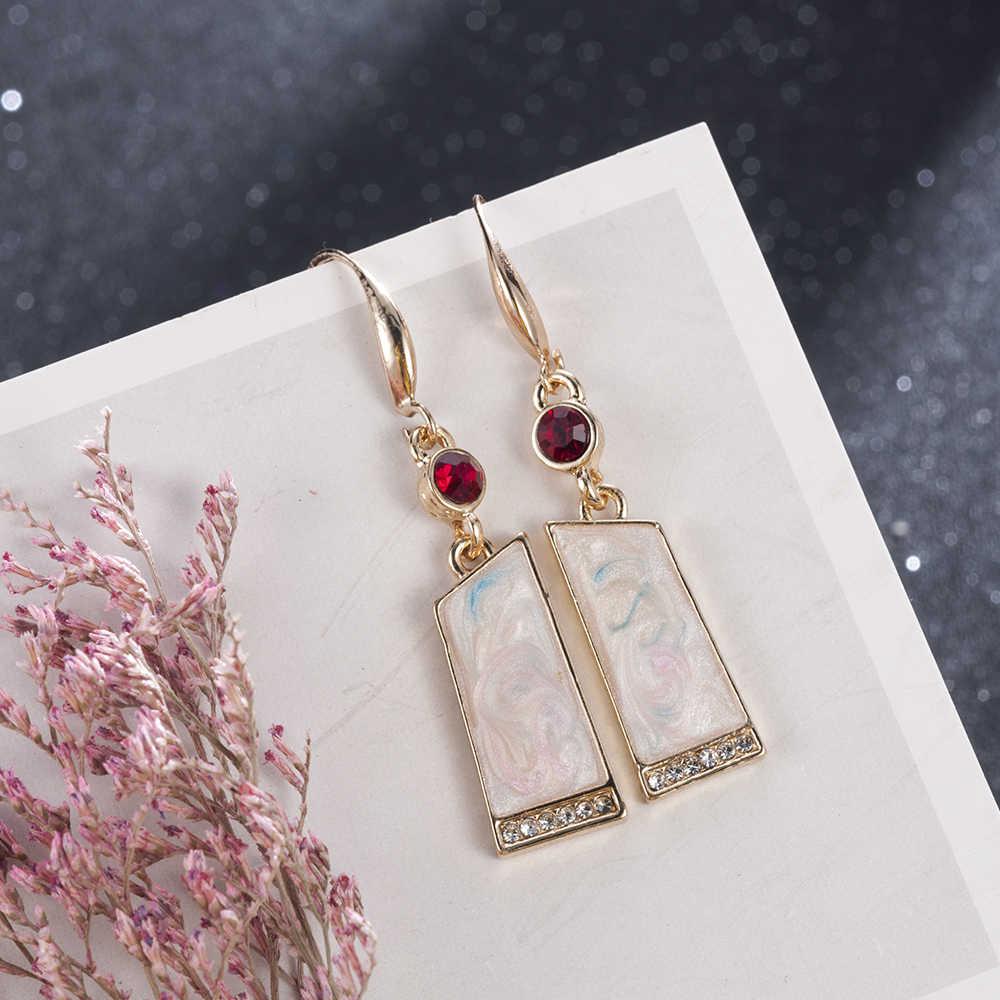 2019 新ヴィンテージエスニック耳フックブラブラドロップピアス女性のための女性の石のブライダルパーティー宝石類の装飾品アクセサリー