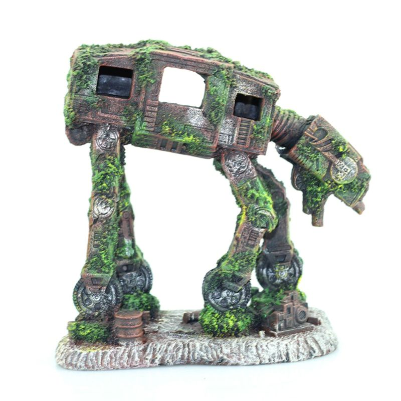 Autobot Robot Dog Shape Aquarium Landscape Decorations Simulation Fish Tank font b Pet b font Resin
