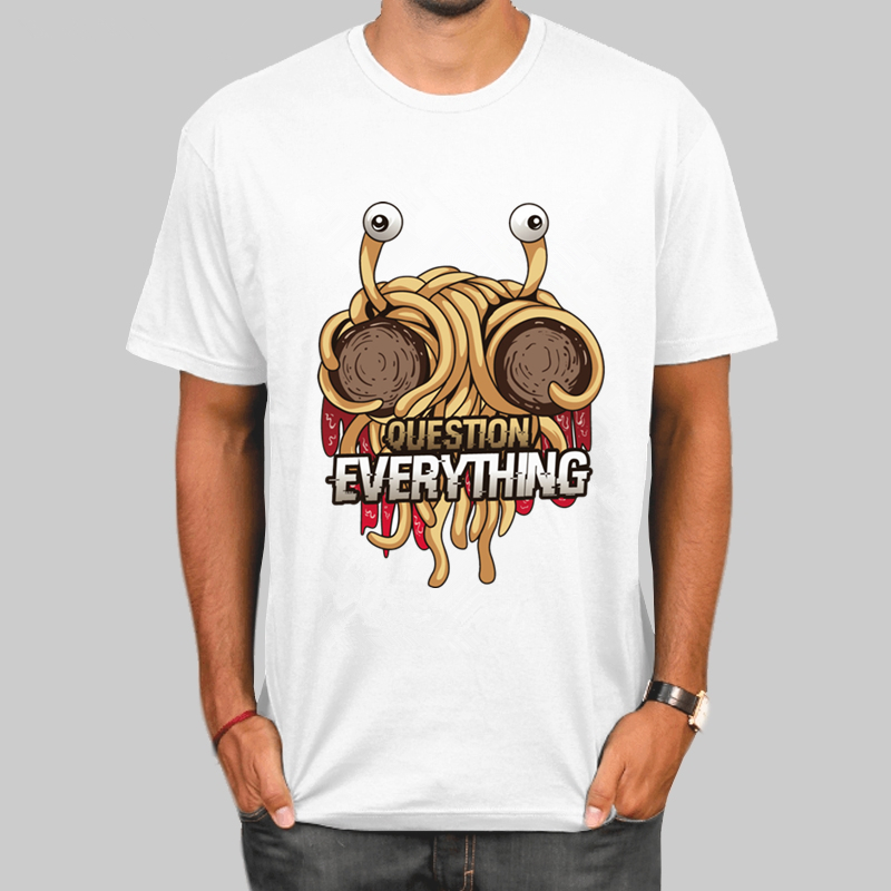 FSM Flying Spaghetti Monster T-shirt Summer Casual O-Neck Short Sleeve Funny Tshirt