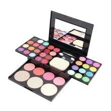HOT Professional Brand Make Up Palette Set Cosmetics Eyeshadow Lip Gloss Foundation Powder Blusher Puff Tool Kit Maquiagem