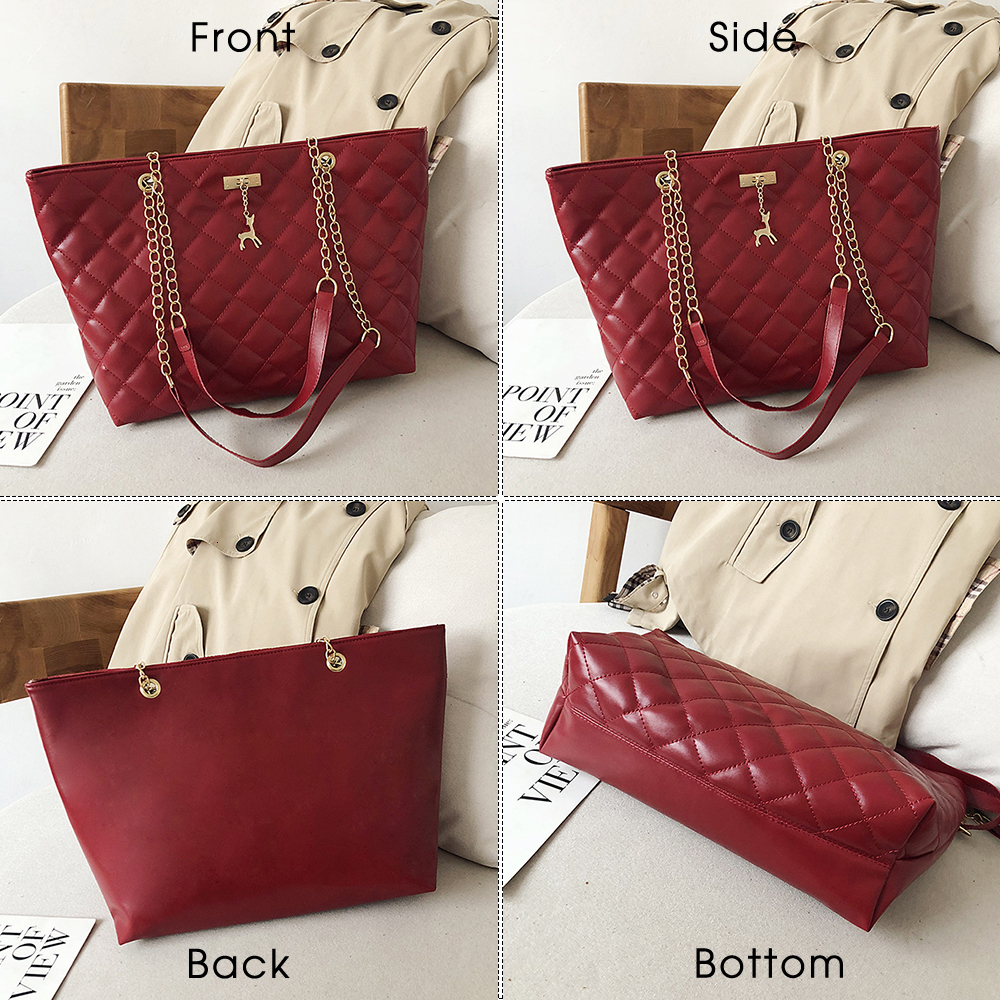 Women Handbag PU Leather 2020 Designer Brand Luxury Chain Shoulder Messenge Crossbody bag Large Capacity Office Lady Bag 4