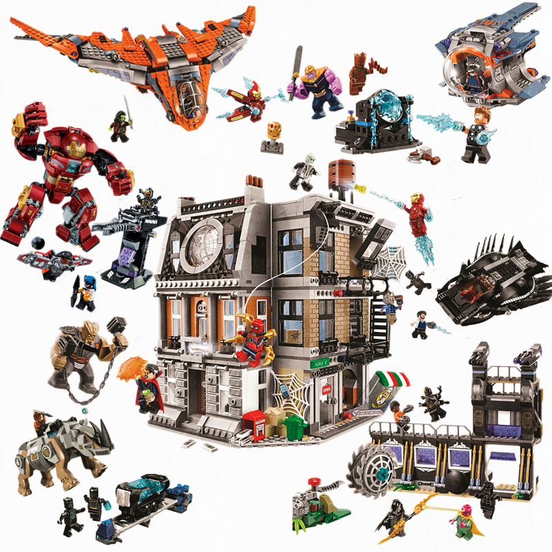 Bela Compatible Legoinglys Ironman Hulkbuster Marvel Avengers Infinity War Super Hero Building Blocks Bricks Toys 2019