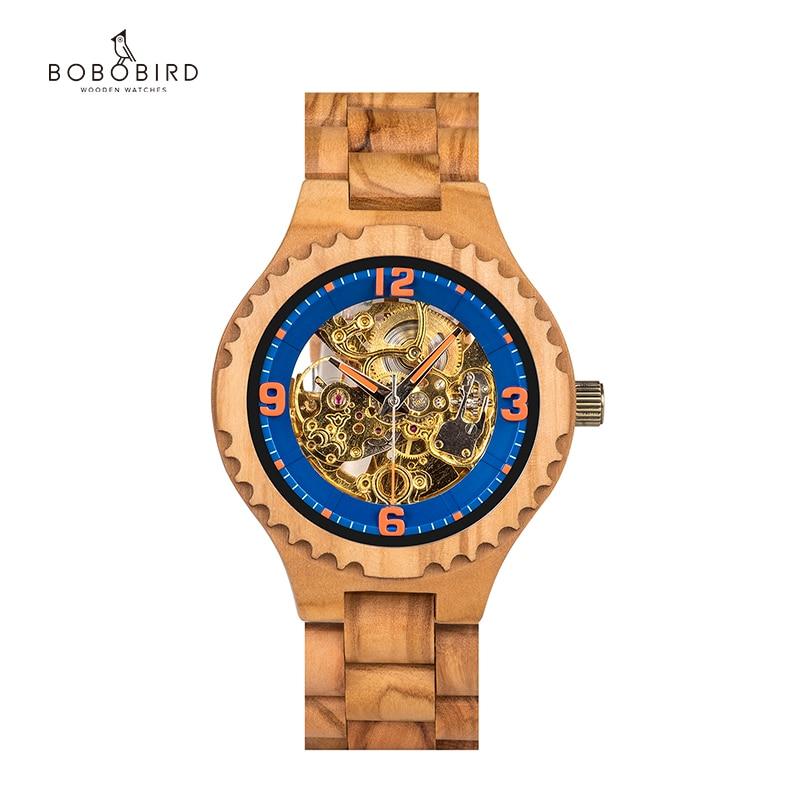BOBO BIRD Watch Men Wood Automatic Machinery Watches Waterproof Luxury Brand Clock Popular Design Accept Customized In Gift Box