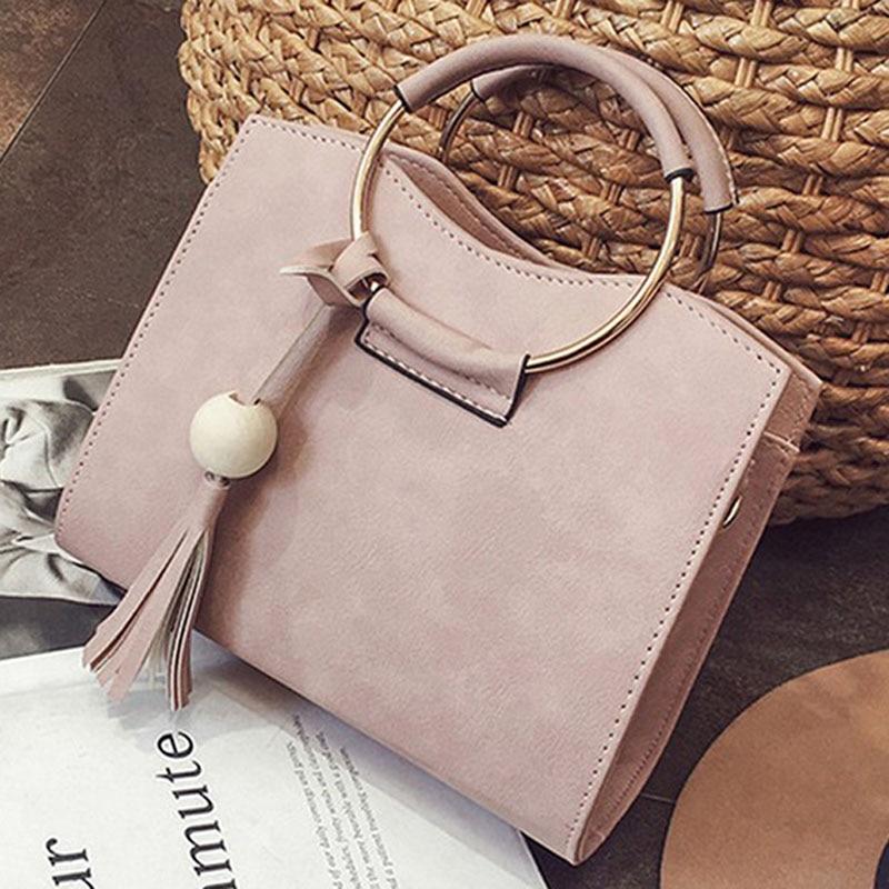 New Fashion Women Pu Leather Pearl Tassel Shoulder Crossbody Bag Handbag Tote Purse Messenger Hot Casual Tote Handbags