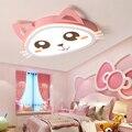 Розовый Светодиодный потолочный светильник с рисунком кота для детской комнаты  кабинета  детской комнаты  потолочный светильник из железа...