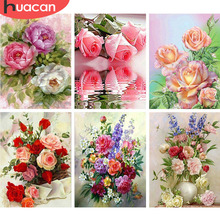HUACAN 5D DIY Diamond Painting Flower Diamond Embroidery Ros