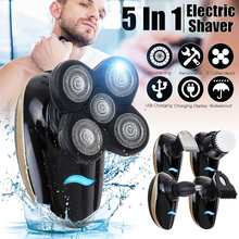 4D Floating Blade Head Rechargeable 5in1 Men Electric Bald Shaver