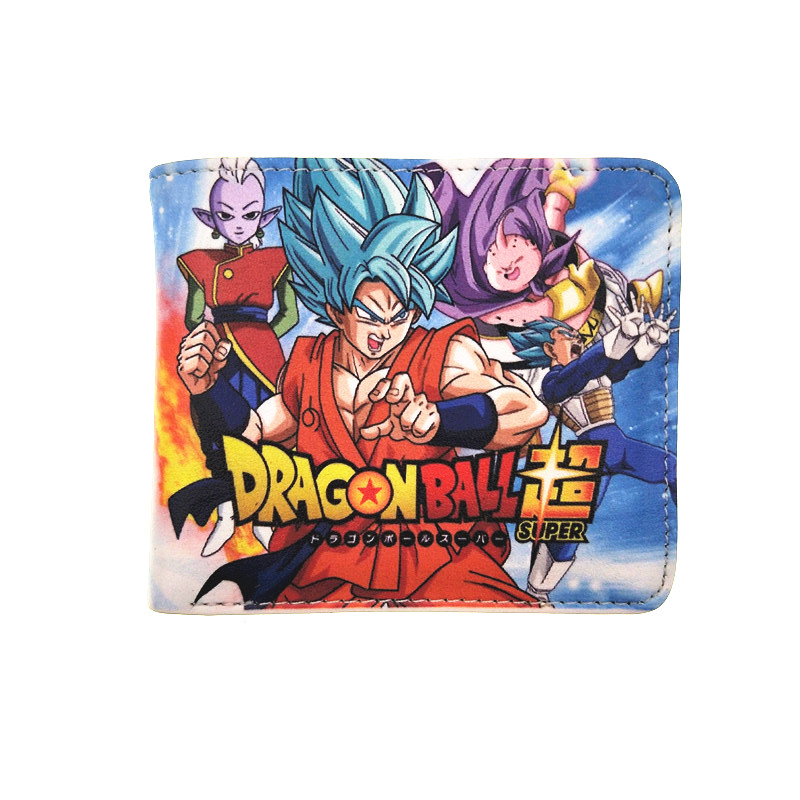 Super Dragon Ball Z Wallet Cion Zipper Purses Boy Favorite Gohan Sun Dragon Ball Kakarot Wallets Bags