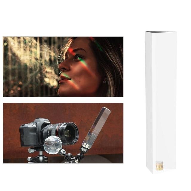 Vlogger fotoğraf kristal top optik cam sihirli fotoğraf topu ile 1/4 Glow etkisi dekoratif fotoğraf stüdyosu aksesuarları