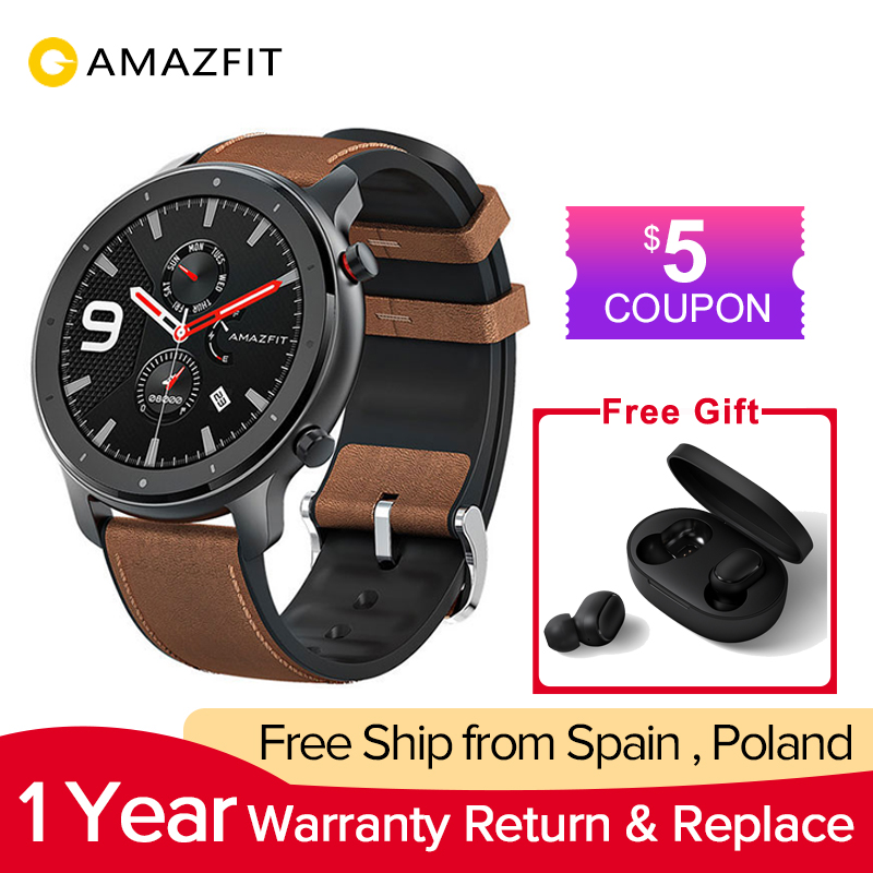 Amazfit Smart-Watch Watch-Support Battery Amoled-Screen Sports-Modes Global-Version 47mm