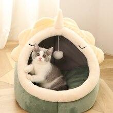 Bed Nest Sleeping-Mat Cat-House Foldable Animals Cute Warm Indoor Win Pet-Cat Warm-Kitten's