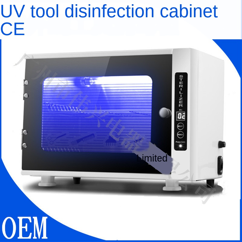 10L Small Mini Beauty Nail Salon Barber Shop Pedicure UV Tools Disinfection Cabinet Towel Disinfection Ultraviolet Light