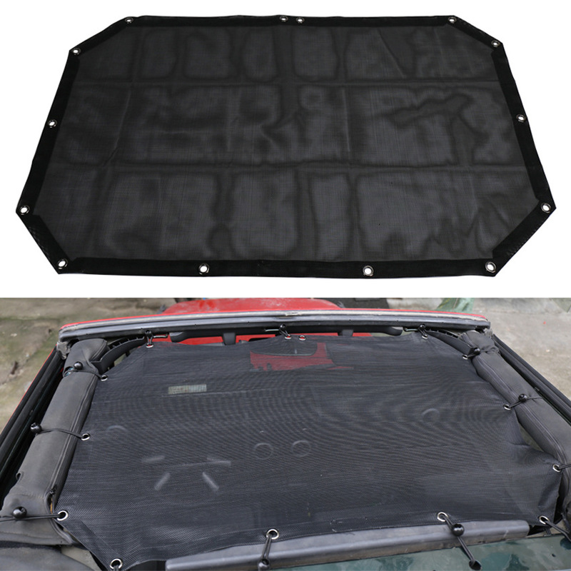 ODIFF SUV Convertible Black Blackout Mesh 2 Door Jeep Wrangler Roof Blackout Mesh