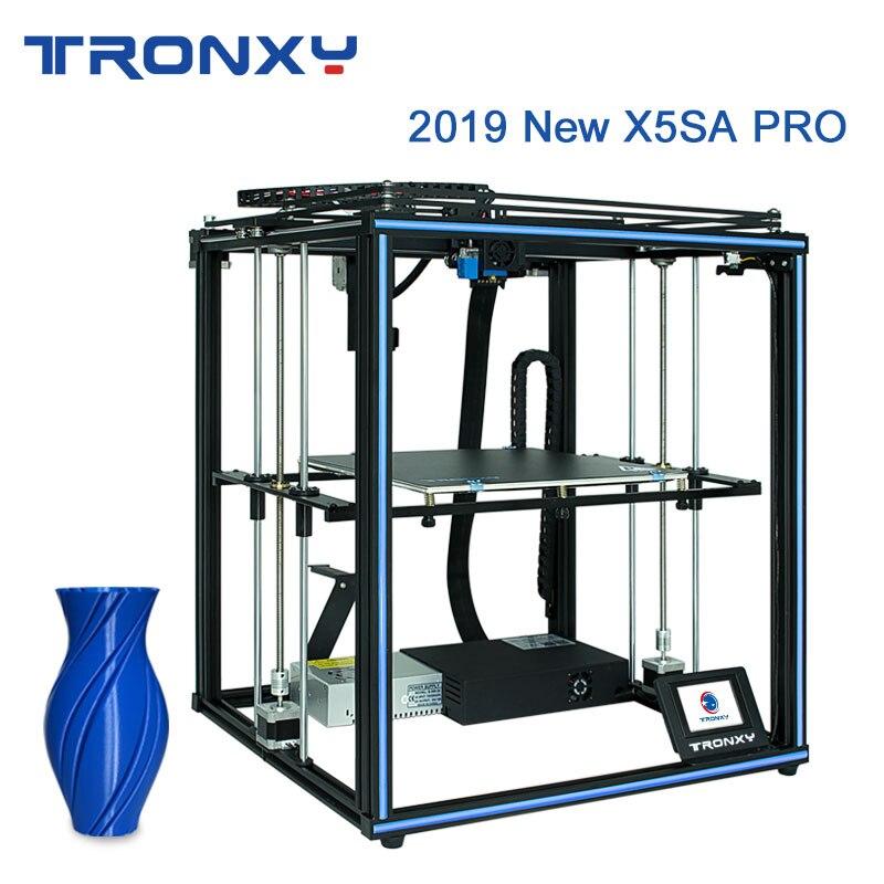 Tronxy X5SA Pro amélioré 24V imprimante 3D Titan extrudeuse haute précision Double axe Guide Rail impression 3D grande Table de construction plaque