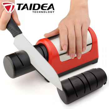 TAIDEA Sharpening stone Professional Electric Knife Sharpener 2 stage Diamond Ceramic kitchen Knife sharpener Machine TG1031