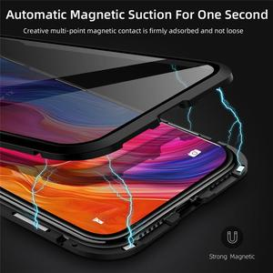 Image 3 - Magnetic Adsorption Tempered Glass Privacy Metal Phone Case Coque 360 Magnet Antispy Cover for iPhone XR XS X 11 Pro Max 8 7 6s