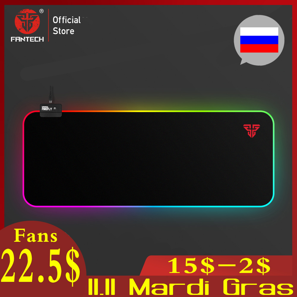 FANTECH MPR800S RGB Mousepad Gaming Mouse Pad 800x30x0.03cm USB Mousepad Ultra-smooth Cloth Surface With Locking Edge For Gamer