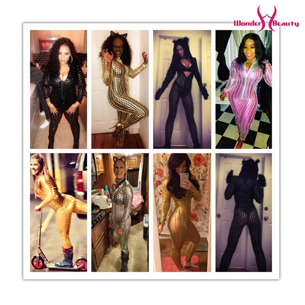 Wetlook Catsuit PU Faux Leather Jumpsuit Zentai Costume Women Zipper Front Hollow Out Hole Pole Dance Nightclub Vinyl Bodysuit (8)
