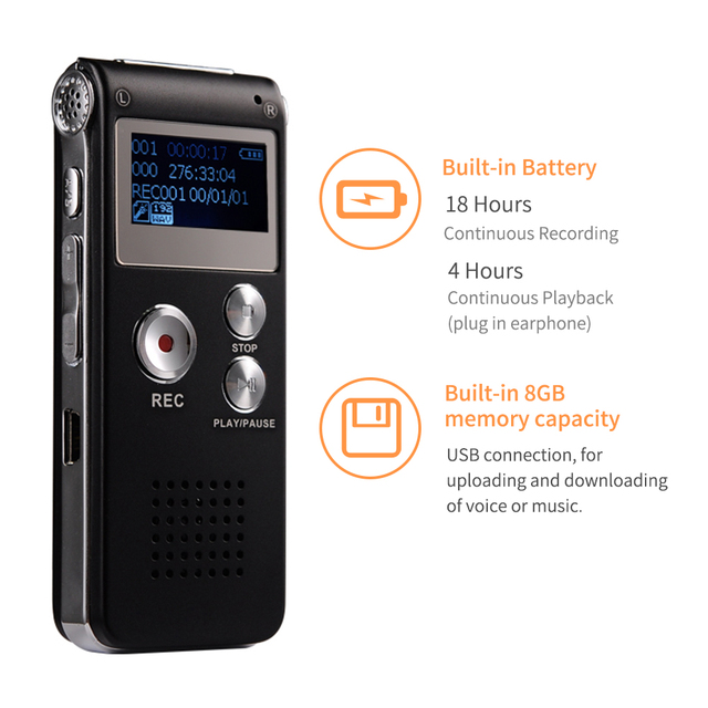 8GB Voice Activated Recorder for Telephone Recording 1