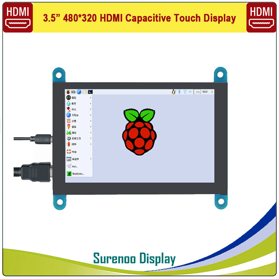 3.5 inch 320*480 HDMI TFT LCD Module Screen Display Monitor & USB Capacitive Touch Panel for Raspberry Pi