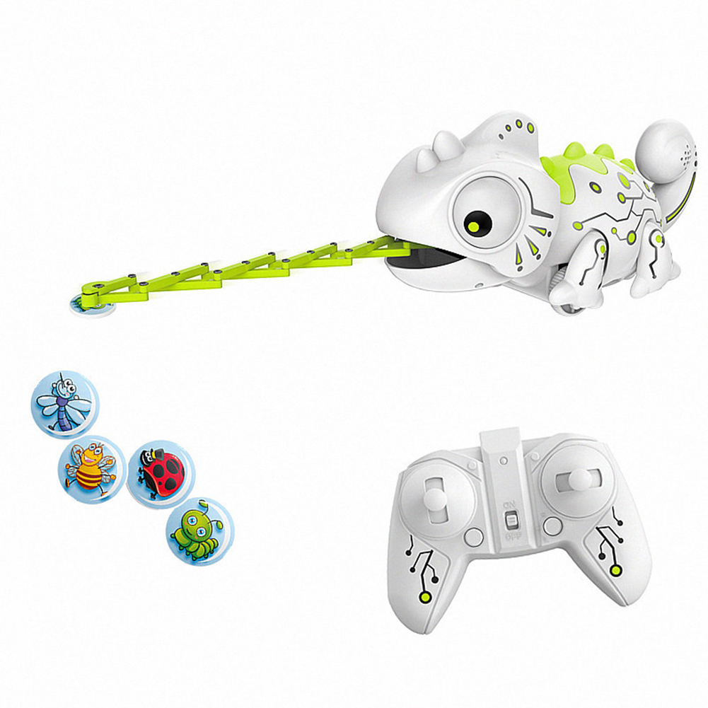 HY245 Dinosaurio Robo Dinosaur Toy Remote Control Chameleon 2.4GHz RC Pet Intelligent Animal Robot Kit Kids Toys For Children