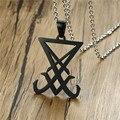 Ожерелье с подвеской в виде демонической стороны светящегося знака черного готического языческого сатана унисекс ювелирные изделия