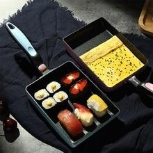 1Pc Retangular Omelette Pan Tamagoyaki Egg Pan, Nonstick Maifan Stone, Anti-Scalding Handle for Glass ,Electic Gas Stove