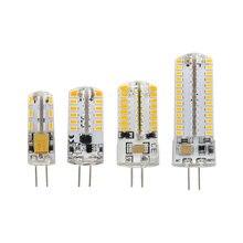 1 pces ce & rohs g4 led milho bulbo 220 v 110 v ac dc 12 v 3014 smd vela substituir lâmpada de halogênio lustre luz 24 32 48 64 104 leds