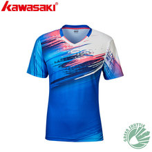 2020 New Professional Kawasaki Men And Women Badminton T-shirt With Short Sleeves ST-R1216 R1218 Quick-dry Jersey(China)