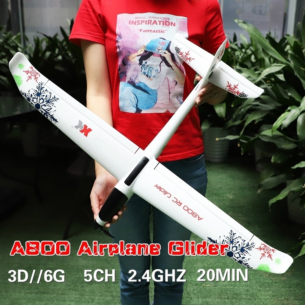 RC Airplane Remote Control Plane 3D 6G System 2.4GHz 5CH Fixed-wing Glider 780mm planepan Fixed Wing Toys Children Xmas Gift image