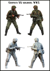 [tusk model]1/35 Scale Unassembled Resin figures resin model Kits E172(China)