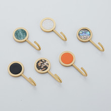 Modern Hooks New Candy Color Decorative Wall Hooks Racks Clothes Hanger Brass Robe Hook Bathroom Accessories