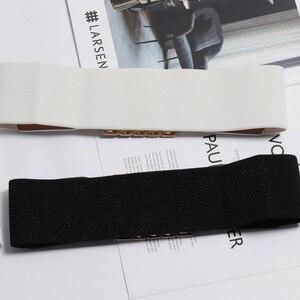 Image 5 - Ceintures en strass colorées avec boucles carrées, tendance, Punk, en cuir, large élastique, pour robe, ceinture pour ceinture, accessoires