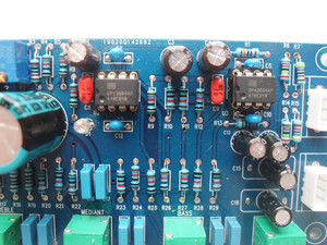 Image 3 - DC 12V 24V OPA2604 OPAMP Stereo Preamp ön amplifikatör ses tonu kontrol panosu amplifikatör kurulu için hoparlör