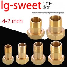 Pipe Fittings Connector accessories water meter copper connector 1/2 inch 3/4 inch inside and outside wire union
