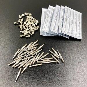 Image 1 - 50 adet sivilce temizleme kalemi İğneler lazer plazma kalemi yüz güzellik cilt karanlık nokta sökücü Mole dövme temizleme kalem aksesuarları