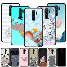 Dumbo Olifant Leuke Case Voor Xiaomi Redmi Note 9S 8T 8 7 9 K20 K30 Pro Zoom 8A 7A 6 Zwart Siliconen Telefoon Cover Sac(China)
