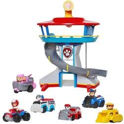 Pata patrulha figuras de ação brinquedo sede coleção filhote cachorro cachorro patrulha lookout torre resgate base brinquedo crianças presente