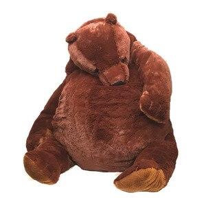 VIP 100cm Soft Teddy Bear Plush Toys Dark Brown Bear Super Big Hugging Pillow Animal Cushion Children Birthday Gift(China)