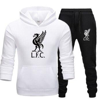 Fashionable Men's Sportswear Casual Hooded Sportswear Set 2020 New Liverpool Football Sportswear + Men's Hooded Sportswear фото