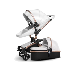 baby stroller PU 2 in 1/ 3 in 1 High landscape stroller folding two way baby stroller four wheel trolley