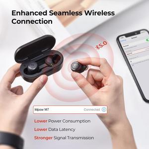 Image 3 - Mpow M7 TWS 무선 이어폰 iPX7 방수 블루투스 5.0 30h 재생 시간 USB C 아이폰 11 Xs x에 대 한 충전 삼성 Xiaomi 9