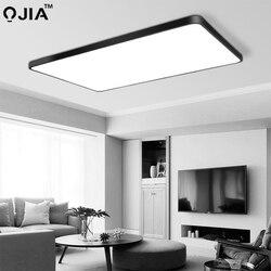 Oświetlenie sufitowe Led biały/czarny ultra-cienki oświetlenie wewnętrzne lampy sufitowe oprawa do salonu sypialnia dekoracja lampy korytarza