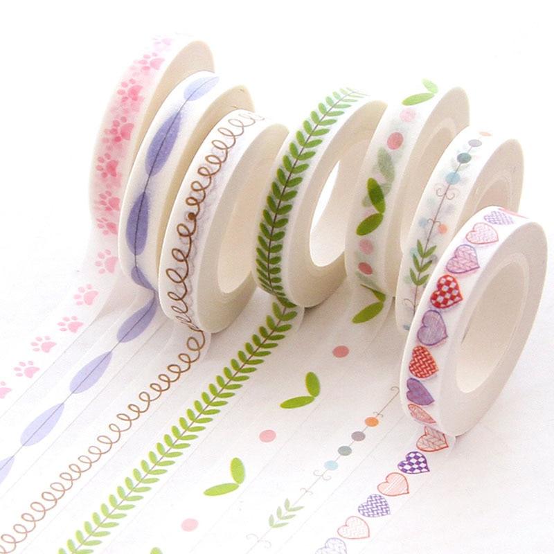 10M Divider Cute Kawaii  Washi Tape Set Bullet Journal Supplies Masking Tapes Washy Organizer Washitape Pastel Korean Stationery