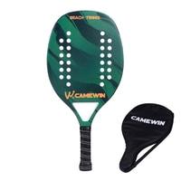 Nova fibra de carbono raquete de tênis de praia rosto macio raquete de tênis com saco de proteção capa Raquetes de tênis    -