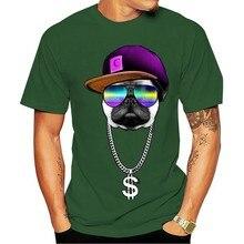 T-shirt 2021 lazer Rico hip hopper pugengraçado animais impresso masculina festa estilo rua toposde algodão verão moda roupas